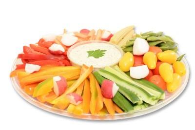 פלטת ירקות טריים